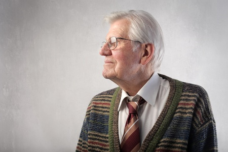Profile of a senior man Stock Photo