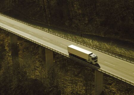 Truck on a highway photo