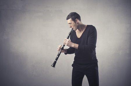 clarinet: Man playing the clarinet
