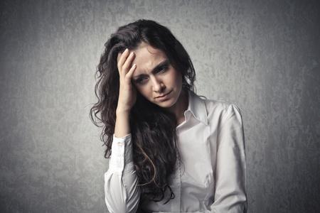 femme triste: Femme triste  Banque d'images