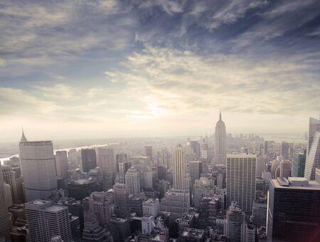 Panorama of Manhattan photo