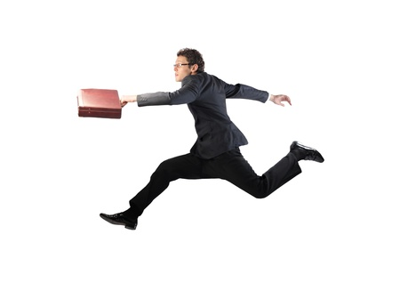 Businessman running Stock Photo - 10416595