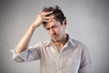 sad faces: Sad businessman Stock Photo