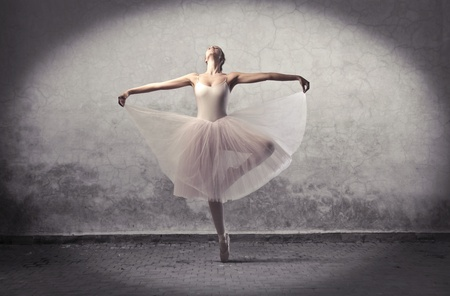 ballet shoes: Beautiful ballerina dancing