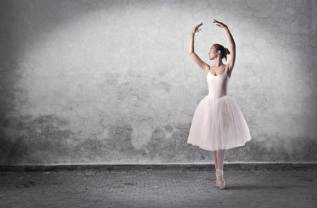 training shoes: Beautiful ballerina dancing