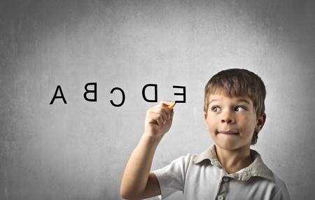 lettre de l alphabet: Lettres d'enfants d'�criture alphabet
