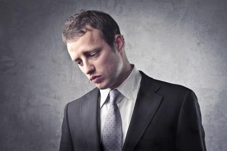 Sad businessman photo