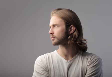 visage profil: Profil d'un bel homme