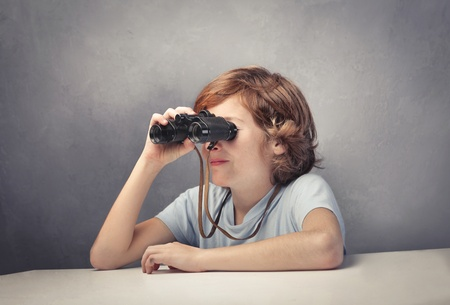 Child using binoculars Stock Photo - 11489925