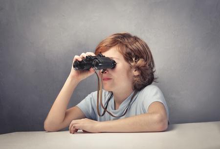 Child using binoculars Stock Photo - 11489925