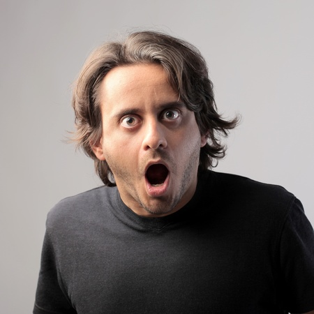 Man with astonished expression Stock Photo - 11739448