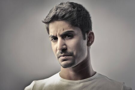 angry man: Indian man with angry expression