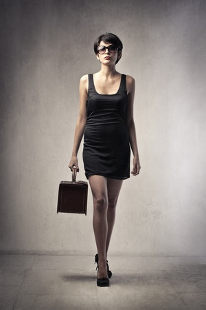 Beautiful elegant young woman photo