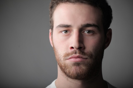 frontal portrait: Portrait of a handsome young man Stock Photo