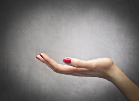 Closeup of a womans palm photo