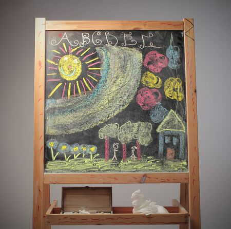 Drawn blackboard photo