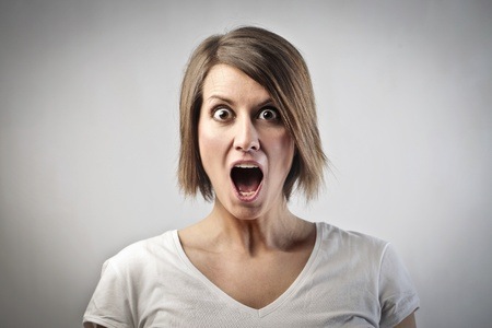 Astonished young woman photo