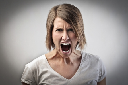 anger: Angry woman screaming