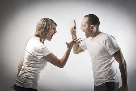 Couple quarreling photo