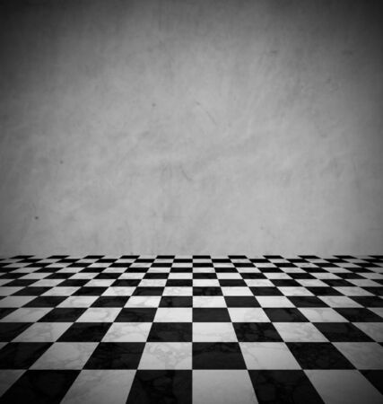 chess board: Marble floor