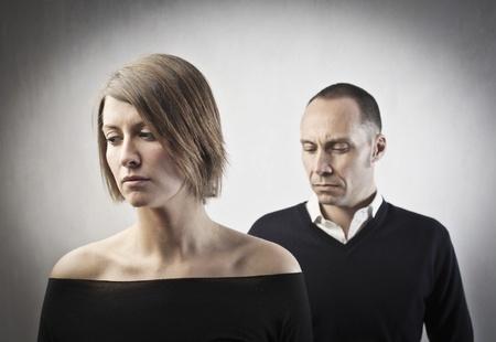 scheidung: Sad Paar
