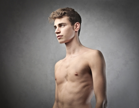Handsome bare-chested young man Stock Photo - 13114264