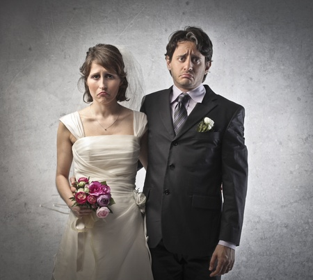 Sad coppia sposata