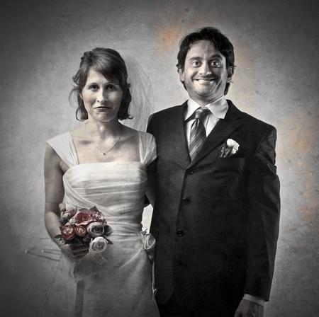 ugly woman: Feliz pareja de casados Foto de archivo