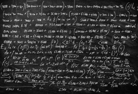 lavagna: Lavagna con la lezione di matematica scritto su di esso Archivio Fotografico