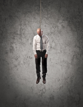 hang body: Hung businessman