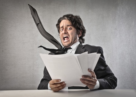 asustado: Hombre de negocios
