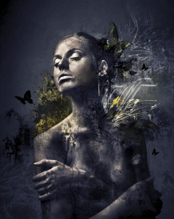 desnudo artistico: Madre Tierra Oscura