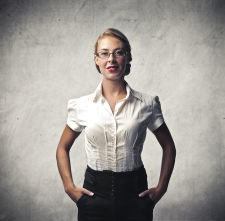 white shirt: Cute Secretary