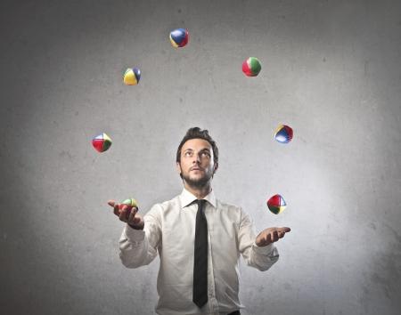 umiejętności: Żongler Biznesmen Zdjęcie Seryjne