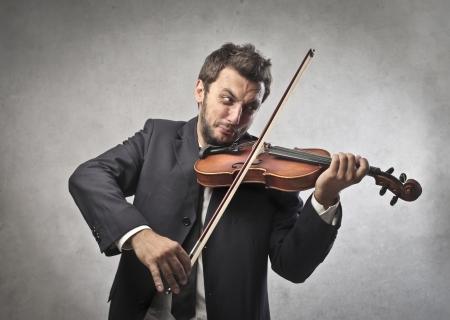 inefficient: Businessman Violinist