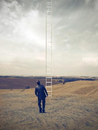 ambition: Long Way Stock Photo