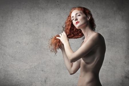 desnudo artistico: Belleza roja