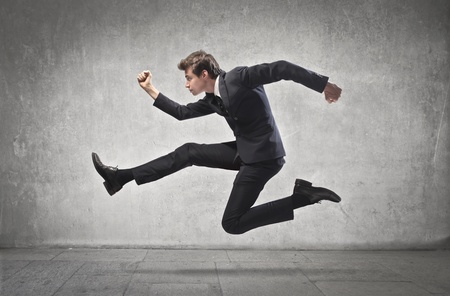 Businessman running Stock Photo - 15112437