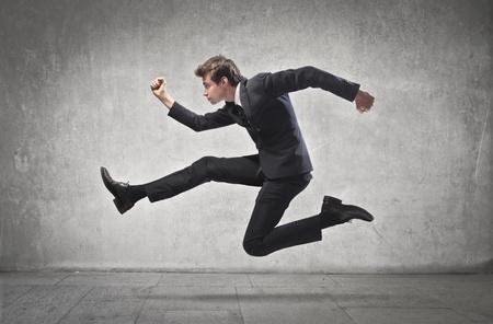 Businessman running Stock Photo - 15112437