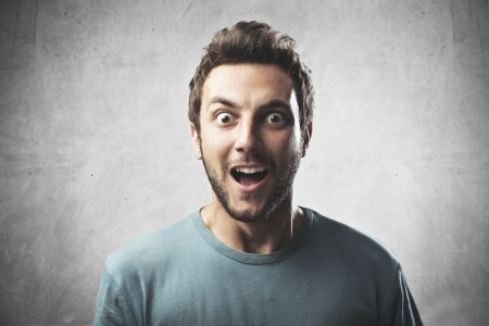 stupor: Boy surprised Stock Photo