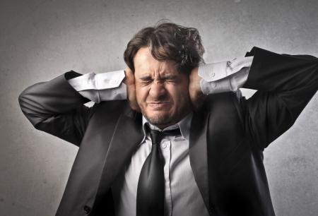 listen ear: Stressed businessman