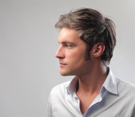 visage profil: Homme de profil Banque d'images
