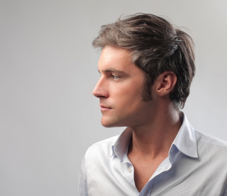 male: Man in profile