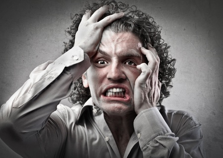 insane insanity: Terrified man