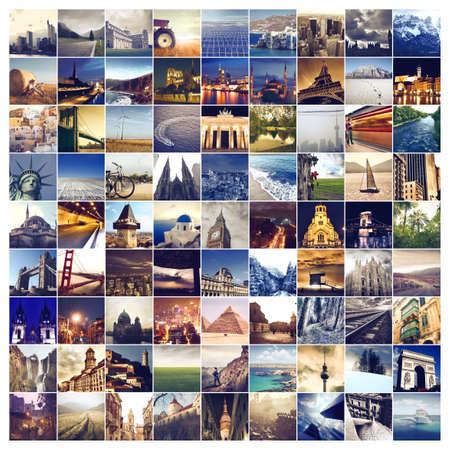 group travel: Many world places Stock Photo