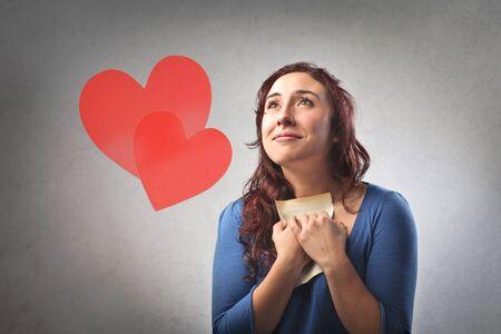 palpitations: Woman having love palpitations