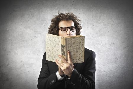 Professor reading a book Stock Photo - 15930183