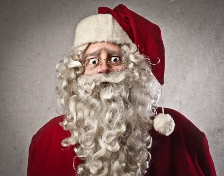 claus: Astonished Santa Claus Stock Photo