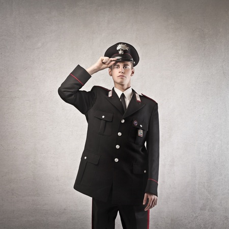 police uniform: Young carabineer