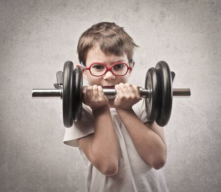 strenght: child weight up with both hands